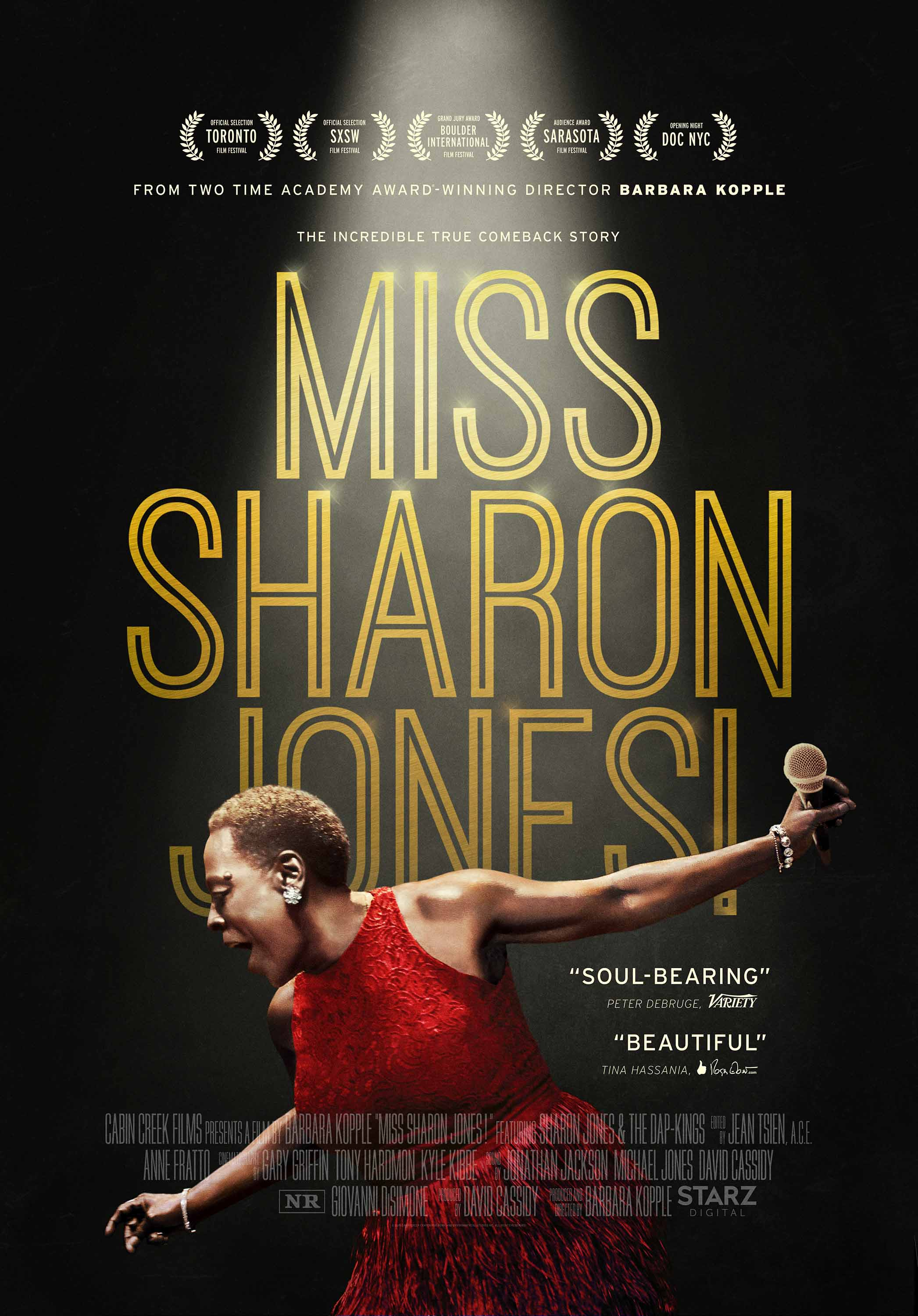 miss sharon jones poster small